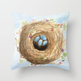 Chubby Nest Throw Pillow