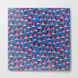 Pattern Project / Pink Heads Metal Print