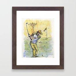 golf 5 Framed Art Print