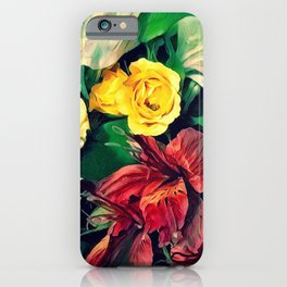 Fleurs Le Matin iPhone Case