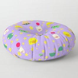 final fantasy pattern lilac Floor Pillow