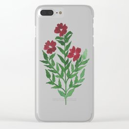 Indian Floral Motif Clear iPhone Case