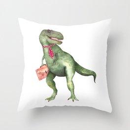 T-T-Terry T-Rex Throw Pillow