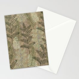 Ferns Beige Stationery Cards