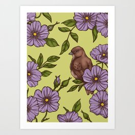Purple Wild Rose Art Print
