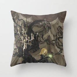Midnight Circus: The Fortune Teller Throw Pillow