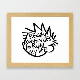 Calvin & Hobbes inspired Framed Art Print