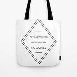 Seeing Wolves (Where There Are No Wolves) 07 Tote Bag
