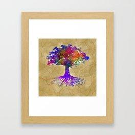Tree Of Life Batik Print Framed Art Print