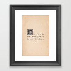 Wish-Granting Factory Framed Art Print