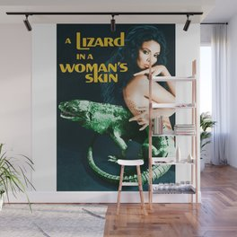 A Lizard in a Woman's skin, vintage horror movie poster Wall Mural