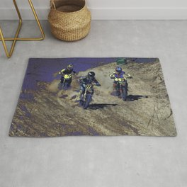 The Home Stretch - Motocross Racers Rug