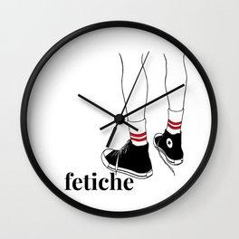 fetiche #1 (white) Wall Clock