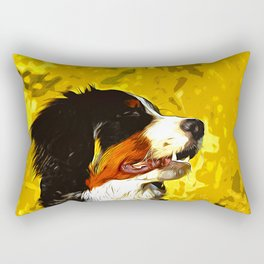 bernese mountain dog vector art Rectangular Pillow