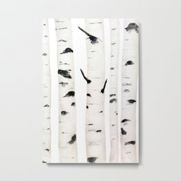 birch  watercolor Metal Print