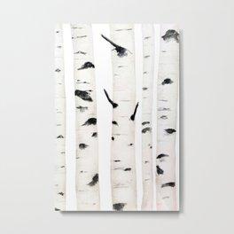 birch  watercolor Metal Print