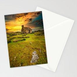 Abandoned Quarry Cottage Sunset Stationery Cards