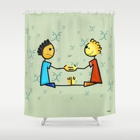 gemini Shower Curtains featuring Gemini by Giuseppe Lentini