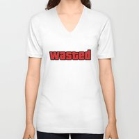 wasted rita V-neck T-shirts featuring Wasted by Yiannis