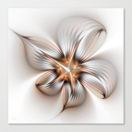 Elegance of a Flower, modern Fractal Art Canvas Print