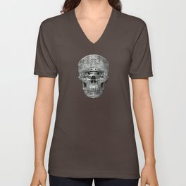 Highly Resolved Ghost (P/D3 Glitch Collage Studies) Unisex V-Neck