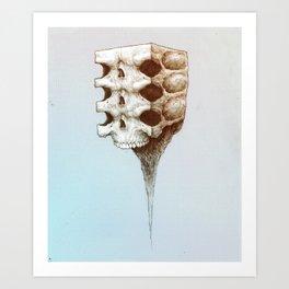 Skull Block Melt Art Print