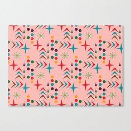 Atomic pattern mid century modern #homedecor Canvas Print