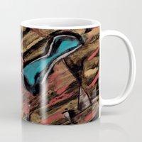 swimming Mugs featuring Swimming by Sabrina Kee