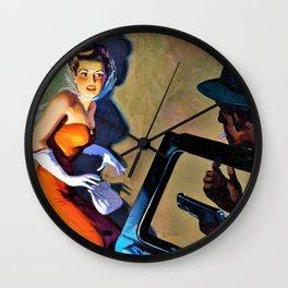 Hugh Joseph Ward - Private Detective Stories pulp cover - Digital Remastered Edition Wall Clock
