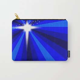 Blue Christmas Star Carry-All Pouch