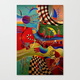 Red green transcendental abstraction Canvas Print