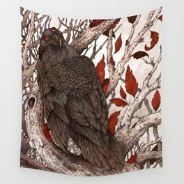 A Raven In Winter Wall Tapestry