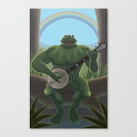 muppet Canvas Prints featuring A Very Manly Muppet by Crystal Kan