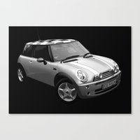mini cooper Canvas Prints featuring Mini Cooper by David Luscombe