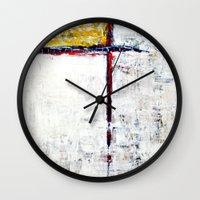alone Wall Clocks featuring Alone by Claudia McBain