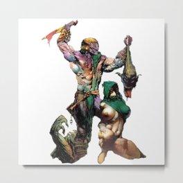 Aloens Vs Monster collectibles Metal Print