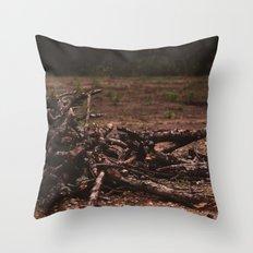 wooden soul Throw Pillow