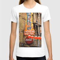 coca cola T-shirts featuring CHINESE COCA COLA SIGNBOARD by Voodoo Bench