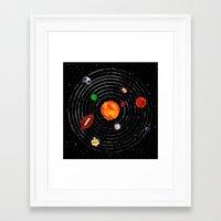 sports Framed Art Prints featuring Solar Sports by Naomi Batts