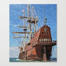 Galleons, the most beautiful ships Canvas Print