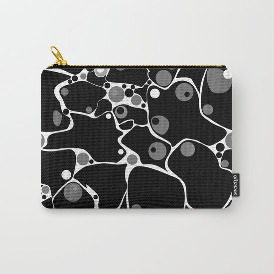 Abstract black and white polka dot pattern . Carry-All Pouch
