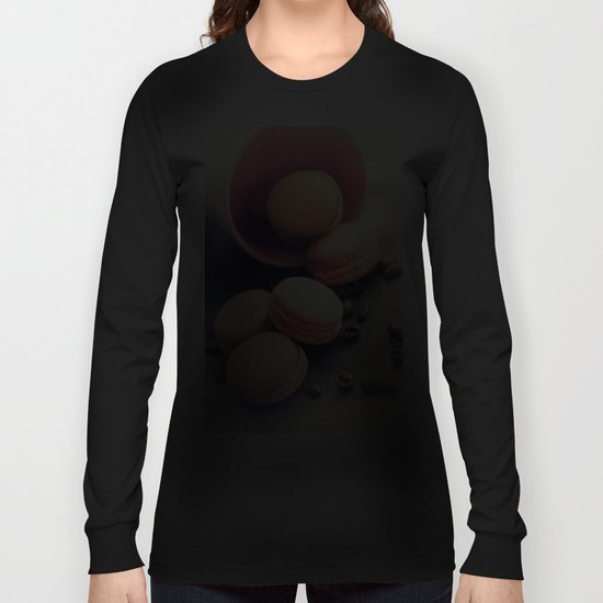 Sweet Cake with coffee beans Long Sleeve T-shirt