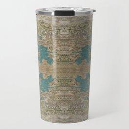 Rustic Wood - Weathered Wooden Plank - Beautiful knotty wood weathered turquoise paint Travel Mug