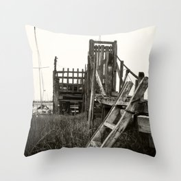 Rickety Jetty Throw Pillow