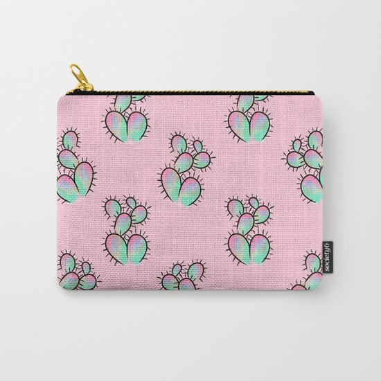 Pop Cactus Pattern Carry-All Pouch
