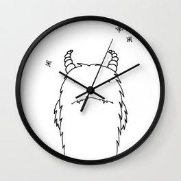 Yeti Illustration Wall Clock