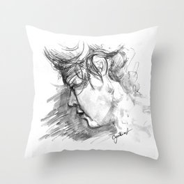 Haz Sketch Throw Pillow