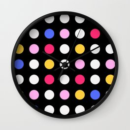 A Little Bit of Color Wall Clock
