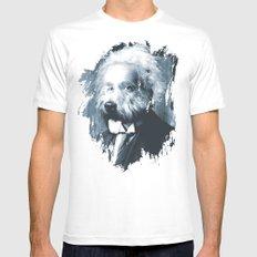 Albie Einstein White Mens Fitted Tee MEDIUM