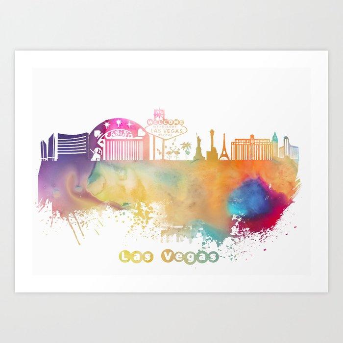 Las Vegas Nevada Skyline  #lasvegas Art Print